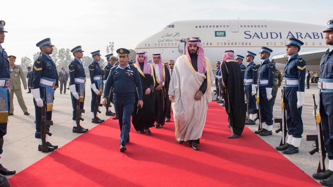 Deputy Crown Prince arrives in Islamic Republic of Pakistan (SPA)