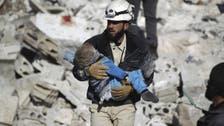 Air strike kills dozens in Syria rebel-held town