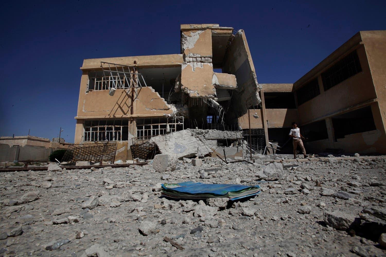 مدرسة قصفت في حلب (أرشيفية)