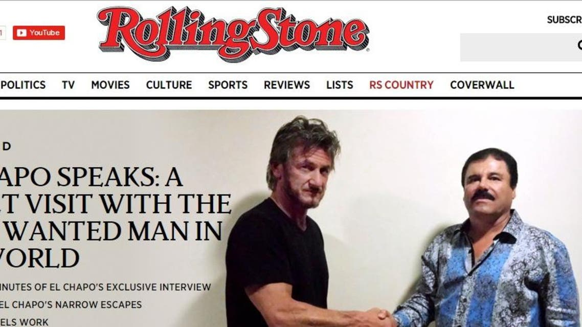 Sean Penn acknowledged that Guzman was granted prior approval over the article, a violation of the commonly held rules of journalistic integrity. (Screenshot via RollingStone.com)