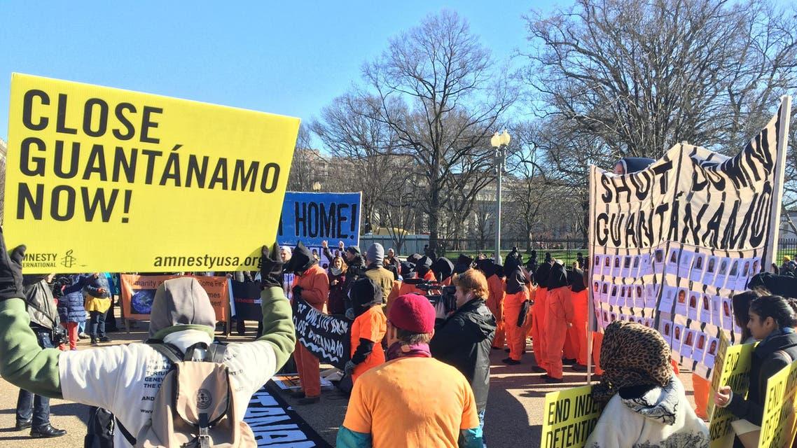 تظاهرة لاغلاق معتقل غوانتاناموا