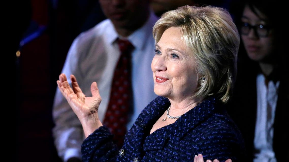 Democratic presidential candidate, Hillary Clinton makes a point during the Brown & Black Forum. (AP)