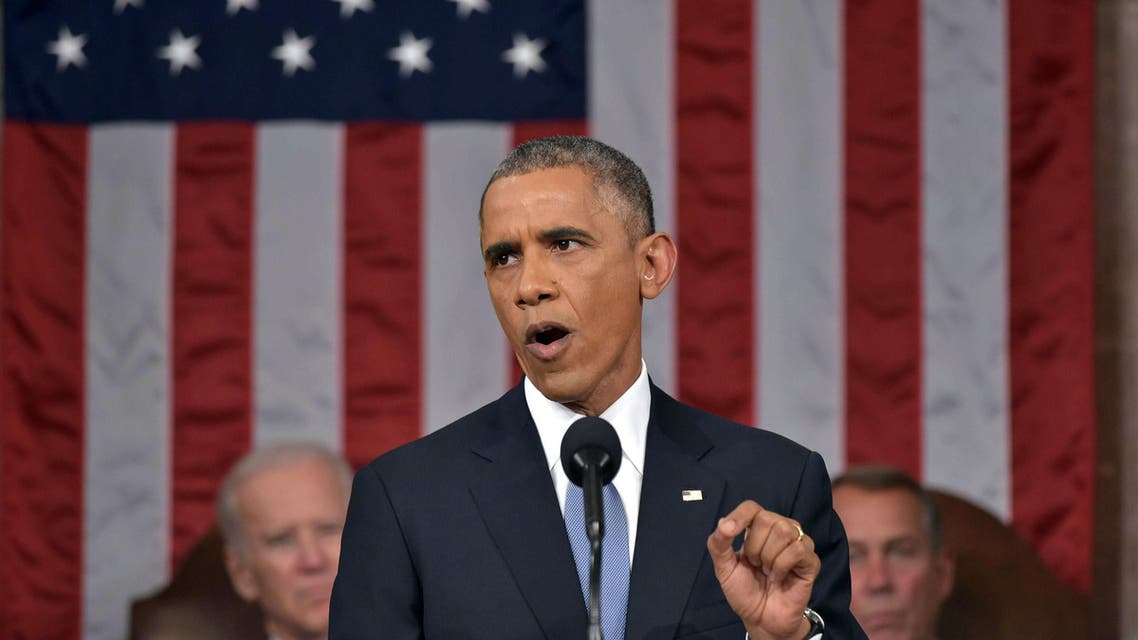 DATE IMPORTED: January 21, 2015 U.S. President Barack Obama (C) delivers his State of the Union address to a joint session of Congress on Capitol Hill in Washington, January 20, 2015. (Reuters)