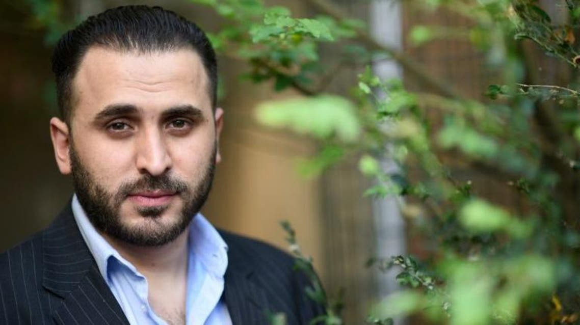 Montasser AlDe'emeh, pictured on June 8, 2015, runs a centre in Brussels' gritty Molenbeek district that aims to prevent young Belgians from going to fight in Syria. (AFP)
