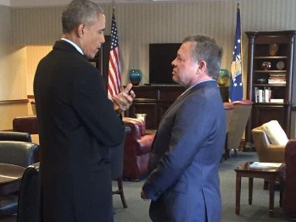 لقاء خاطف بين أوباما والملك عبدالله الثاني في واشنطن
