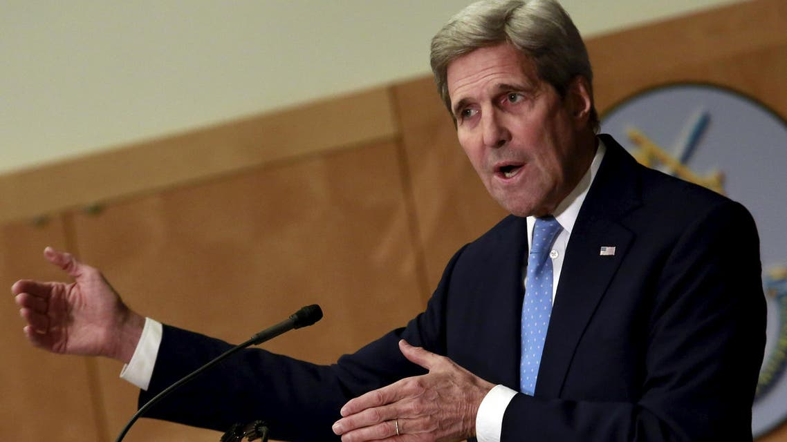 U.S. Secretary of State John Kerry delivers remarks on the United States foreign policy agenda 2016 at the National Defense University in Washington January 13, 2016.  (Reuters)
