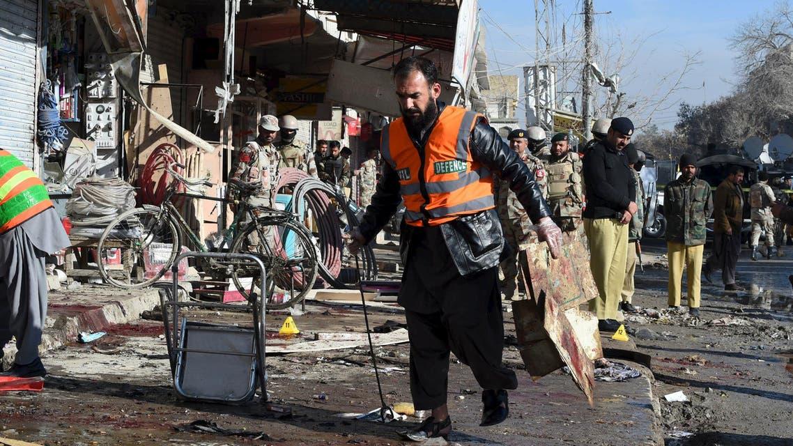 باكستان تفجير أمام مركز لشلل الأطفال