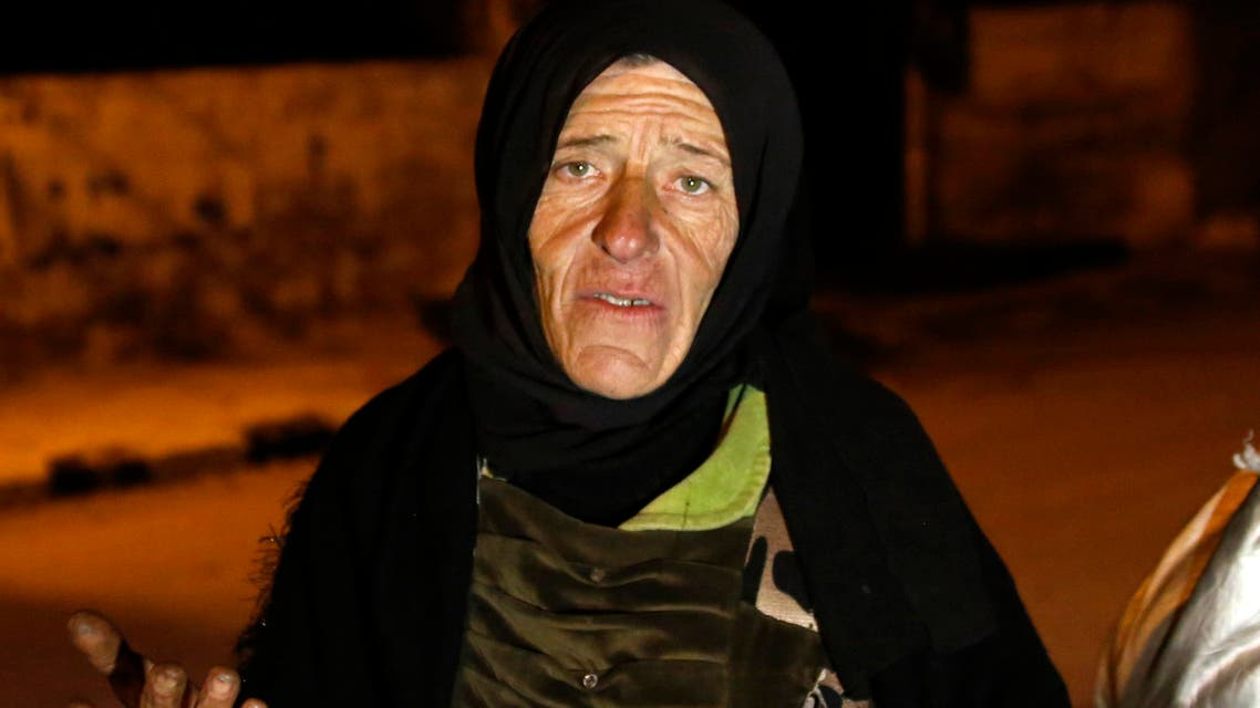 In this Monday, Jan. 11, 2016 photo, residents talk to reporters in the besieged town of Madaya, northwest of Damascus, Syria. (AP)
