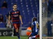 برشلونة يجدد فوزه على إسبانيول بهدفي منير