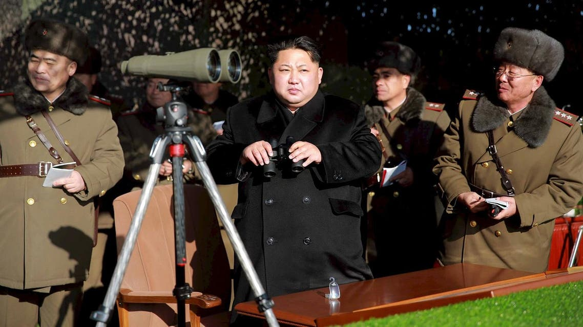 File photo of North Korean leader Kim Jong Un watching a firing contest of the KPA artillery units. (File photo: Reuters)