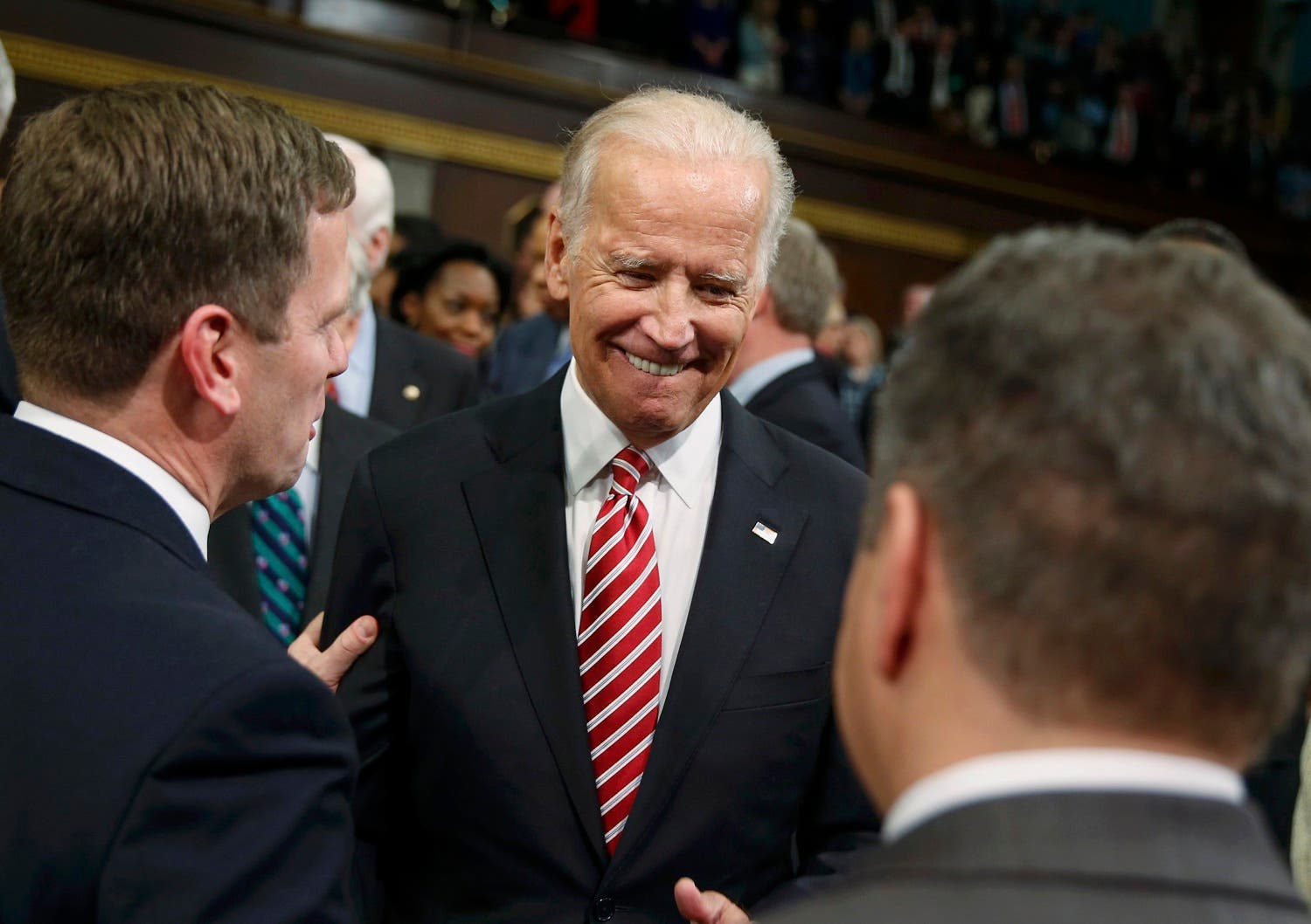 U.S. Vice President Biden arrives prior to President Obama's State of the Union address to a joint session of Congress in Washington. (AP)