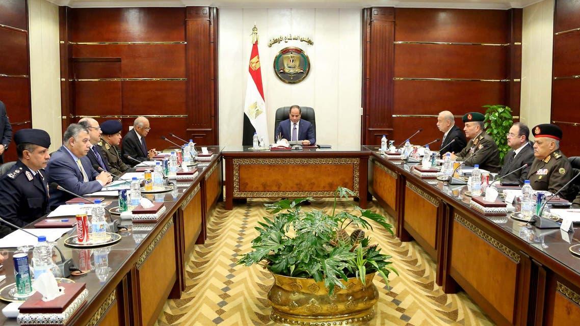 صور اجتماع مجلس الدفاع الوطني