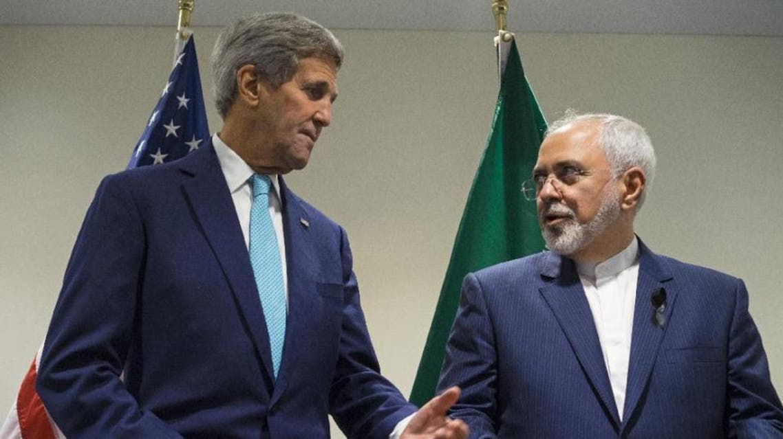 Secretary of State John Kerry meets with Iranian Foreign Minister Mohammad Javad Zarif at United Nations headquarters. (AP)