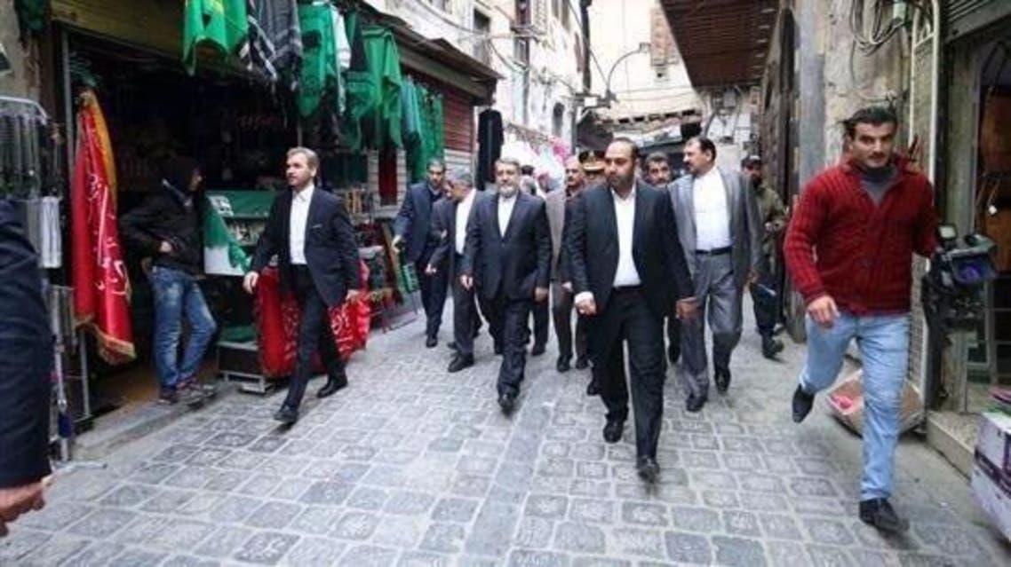 وزير الداخلية الإيراني يتجول بشوارع دمشق