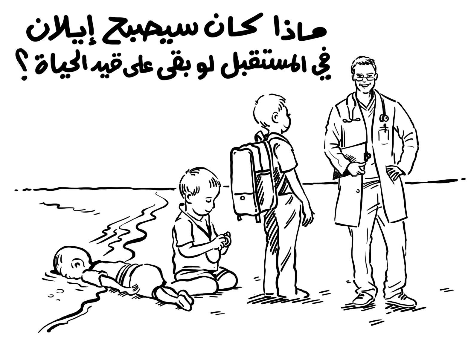 الرسم الكاريكاتيري باللغة العربية