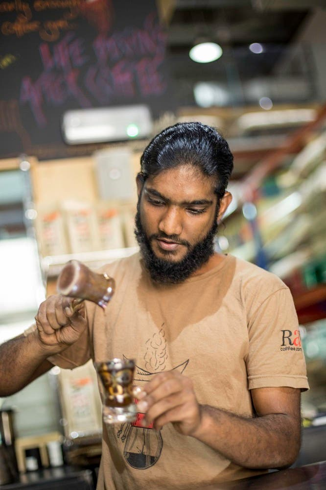 Barista Karthikeyan Ranjedran (Photo courtesy of Gulfood)