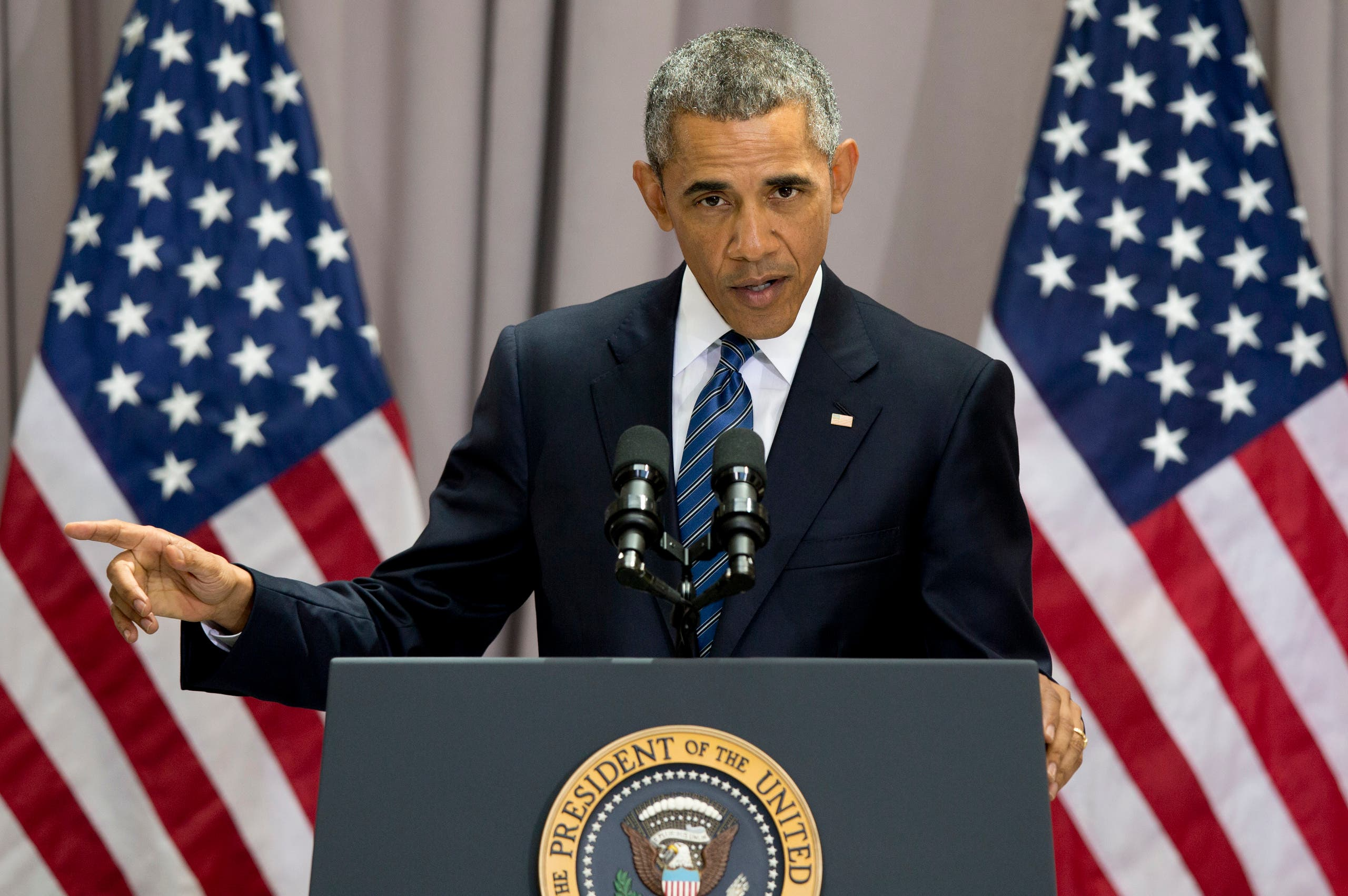 President Barack Obama speaks about the nuclear deal with Iran, Wednesday, Aug. 5, 2015, AP