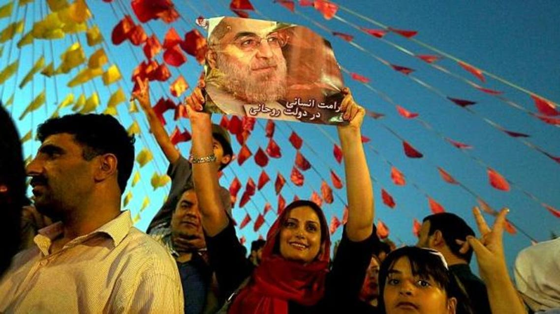 Celebrations in Vanak Square, northern Tehran, following Hassan Rowhani's election victory. (File photo: AFP)