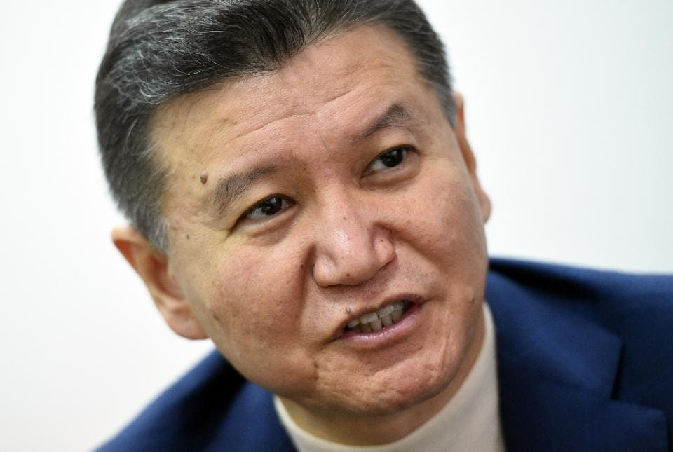 Russian businessman mogul Kirsan Ilyumzhinov said he met Syrian President Bashar al-Assad in 2012 for a three-hour talk, during which Assad recalled his chess-playing days as a medical student in London  (AFP Photo/Vasily Maximov)