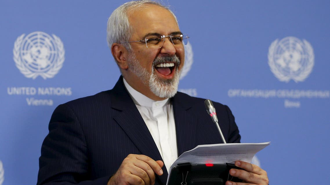 Iranian Foreign Minister Mohammad Javad Zarif addresses a news conference at the United Nations building in Vienna, Austria, January 16, 2016. (Reuters)