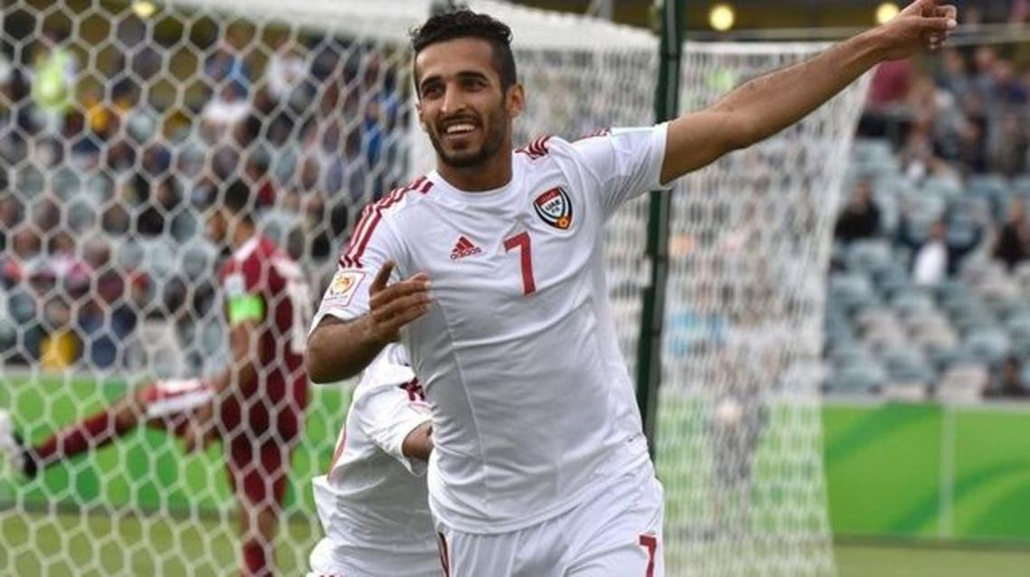 Omar Abdulrahman and Ali Mabkhout (pictured) shined as the country's attacking talismen. (File photo: AFP)