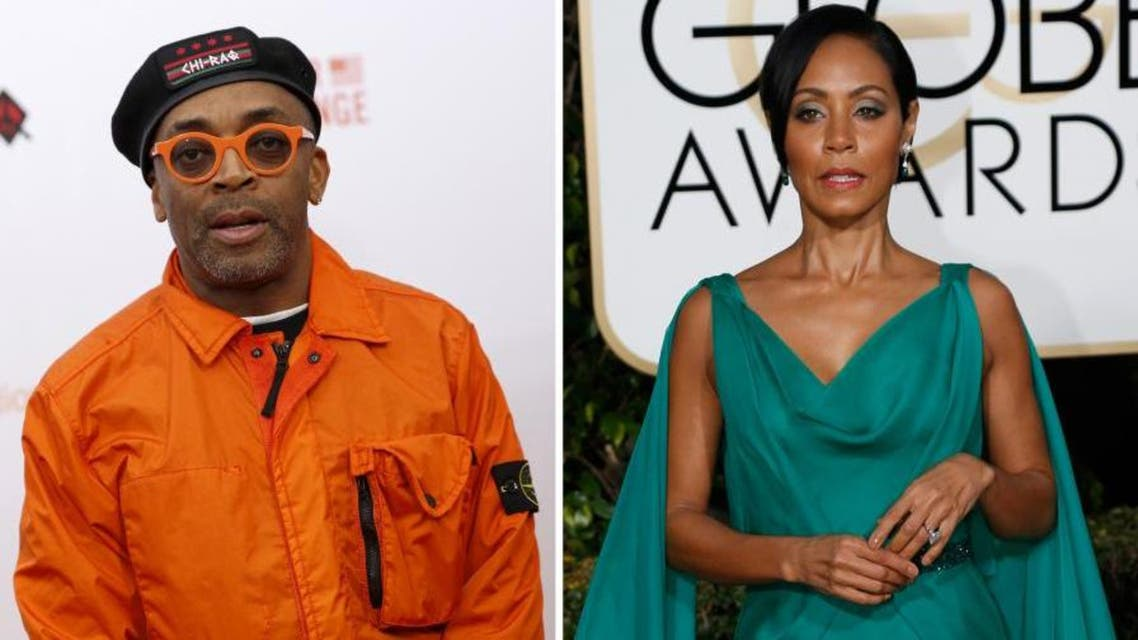 Director Spike Lee and actress Jada Pinkett Smith in a combination image. (Reuters)