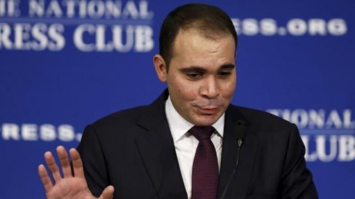 Jordanian Prince Ali bin al-Hussein discusses the FIFA corruption scandal at the National Press Club in Washington December 4, 2015. (Reuters)