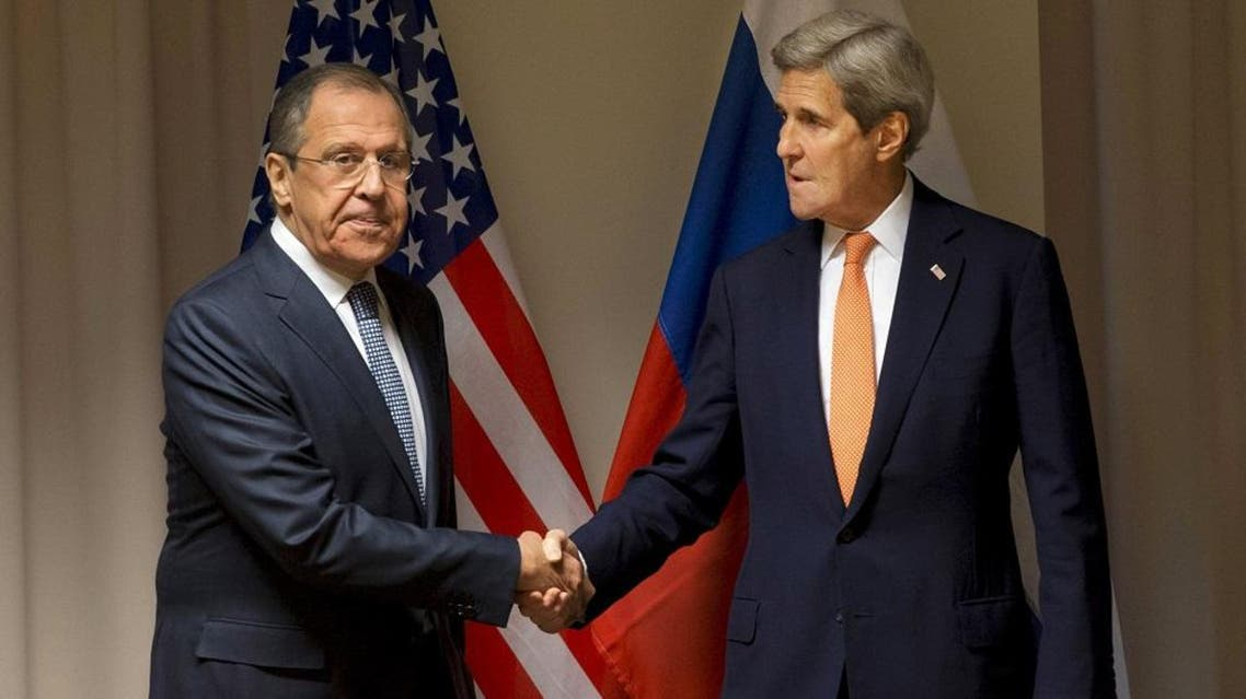 U.S. Secretary of State John Kerry shakes hands with Russian Foreign Minister Sergey Lavrov before their meeting on Syria, in Zurich, Switzerland, January 20, 2016 (Reuters)