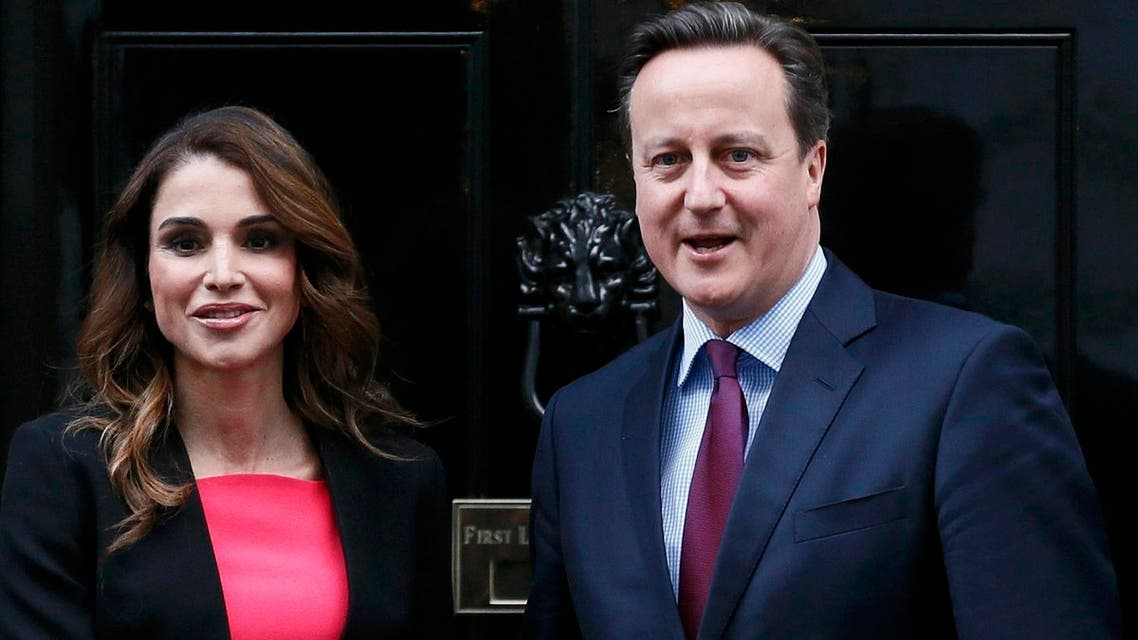 Before arriving at the World Economic Forum in Davos, Cameron said he would, together with Queen Rania of Jordan, discuss with business and political leaders on Friday what steps could be taken to create economic opportunities in Jordan. (Reuters)