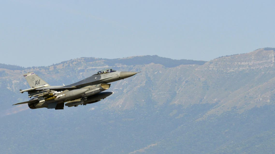 This August 9, 2015 US Air Force photo shows an F-16 Fighting Falcon in support of Operation Inherent Resolve. (AFP)