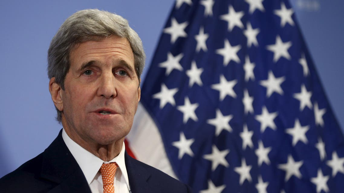 U.S. Secretary of State John Kerry delivers a statement that sanctions will be lifted on Iran after the International Atomic Energy Agency (IAEA) verified that Iran has met all conditions under the nuclear deal, in Vienna January 16, 2016. (Reuters)
