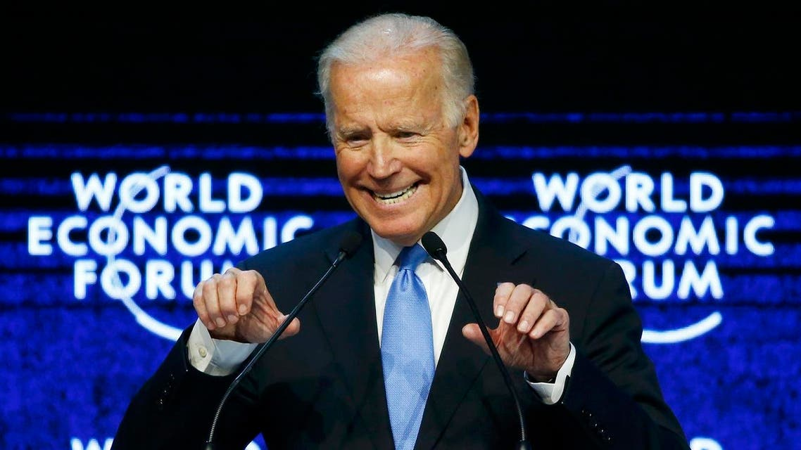 US Vice President Biden addresses the attendees during the Annual Meeting of the WEF in Davos. (Reuters)