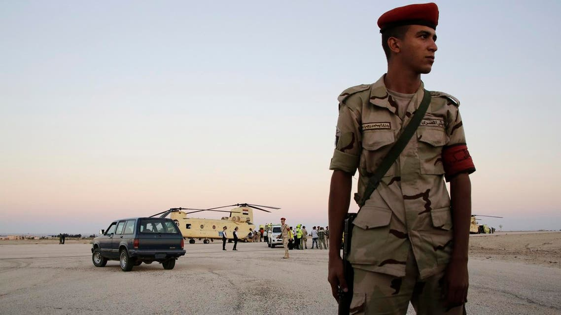 Egyptian security forces are battling extremists linked to ISIS in North Sinai. (File photo: AP)