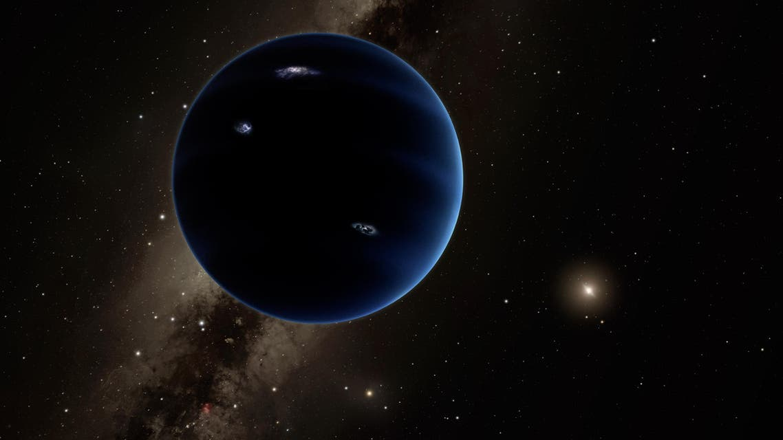 This artistic rendering provided by California Institute of Technology shows the distant view from Planet Nine back towards the sun.  ap