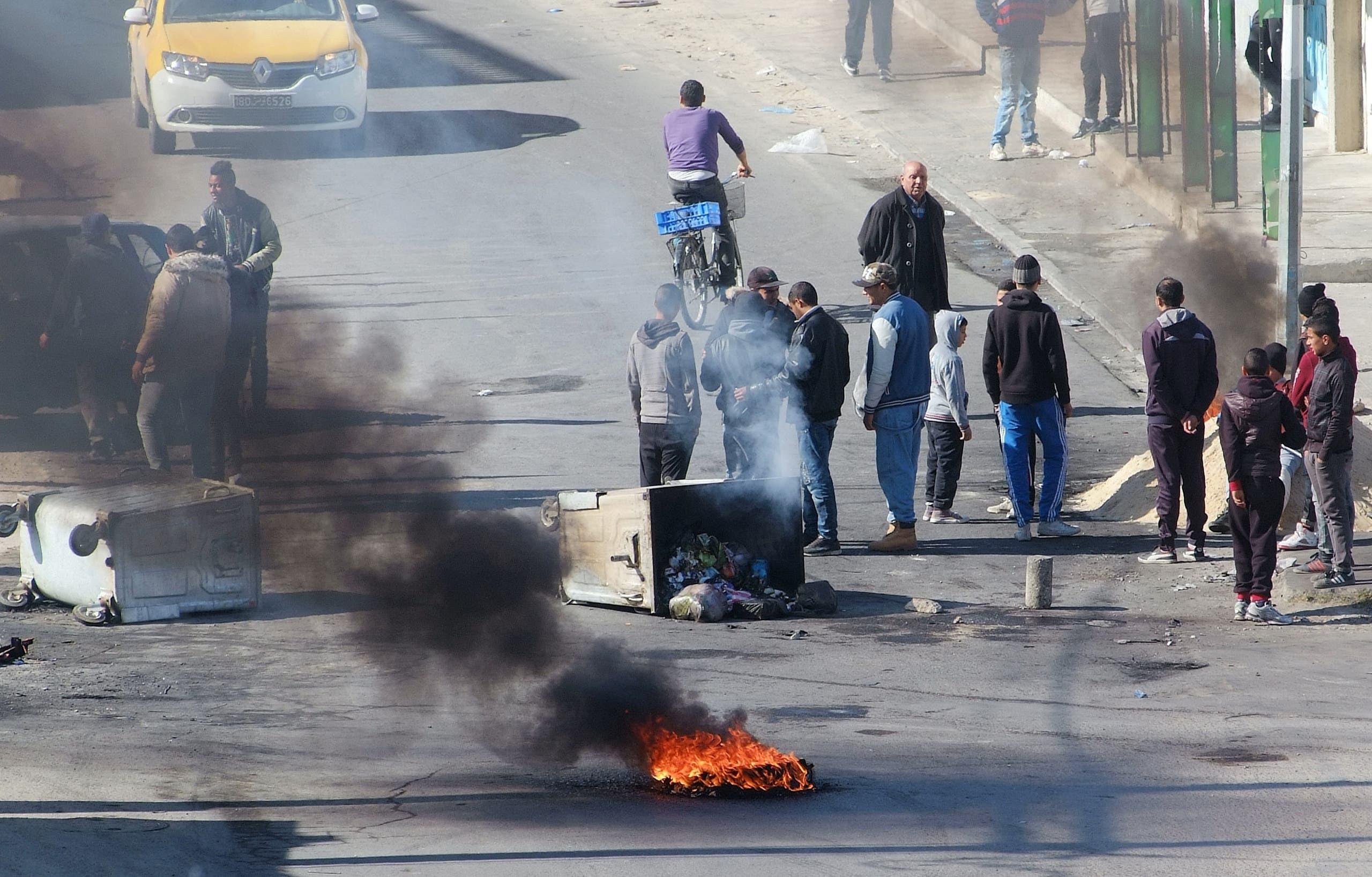از اعتراضات قبلی در تونس