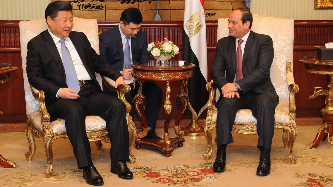 الرئيسيان المصري السيسي والصيني - القاهرة 3