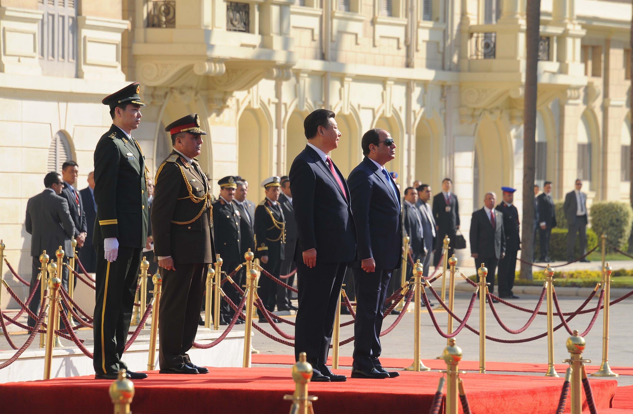 الرئيسان المصري والصيني بقصر القبة