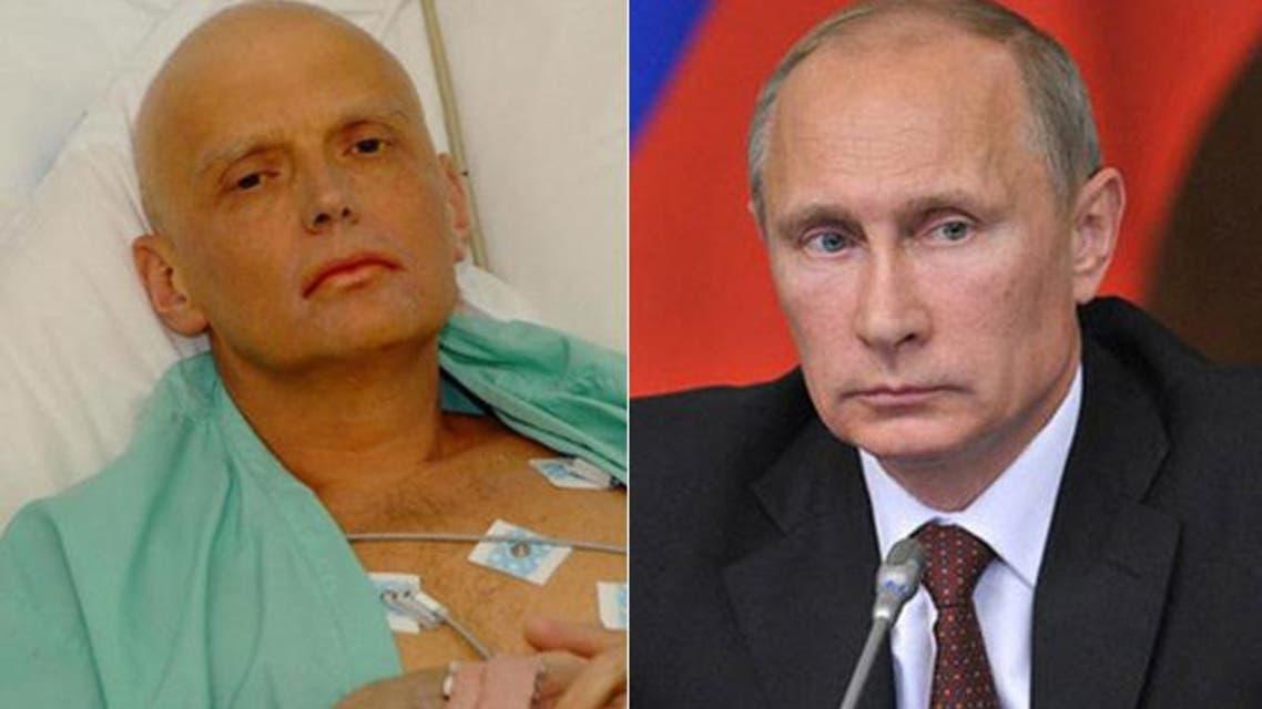 المعارض الروسي الكسندر ليتفيننكو وبوتين
