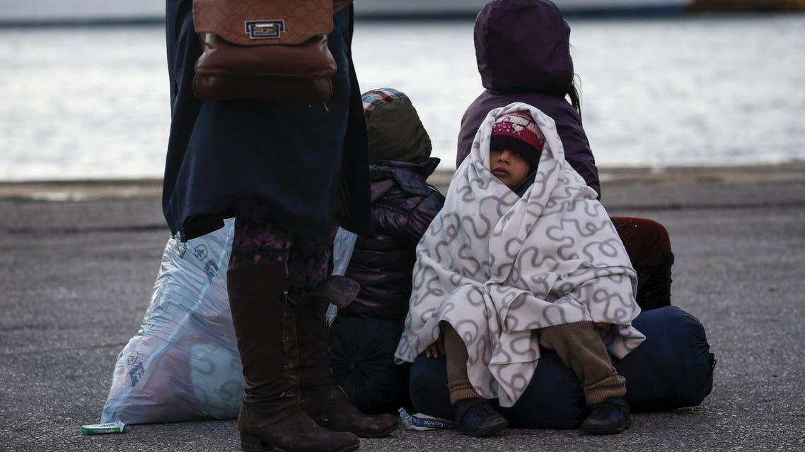 لاجئون لاجئين لجوء سوريين سوري في اليونان