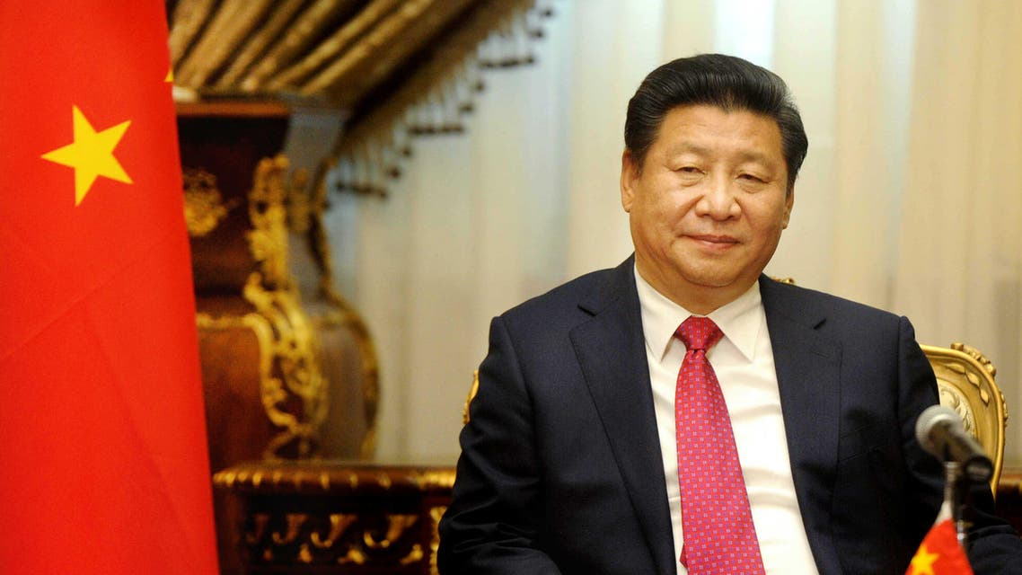 Chinese President Xi Jinping visits the parliament in Cairo, Egypt, Thursday, Jan. 21, 2016. Jinping is on a two-day visit to the country. It is the first time in 12 years that a Chinese president has visited Egypt. (AP Photo/Ahmed Omar)