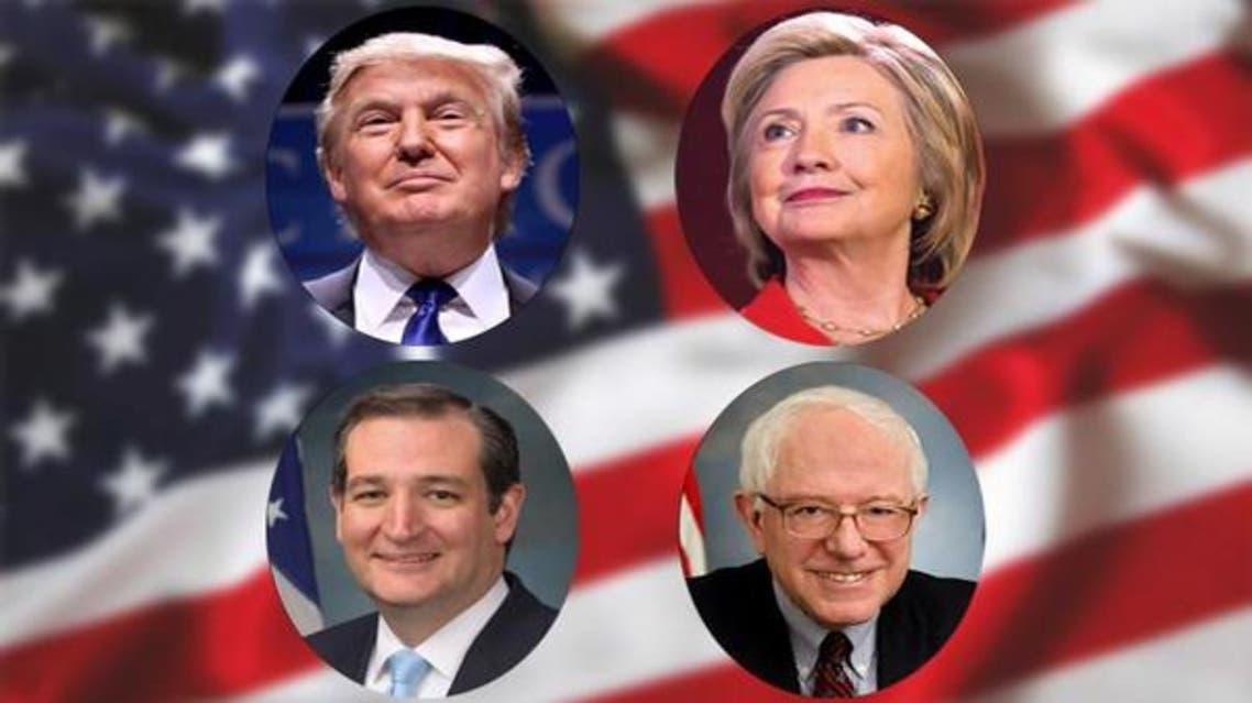 المرشحون الأوفر حظا كلينتون - ترامب - ساندرز - كروز