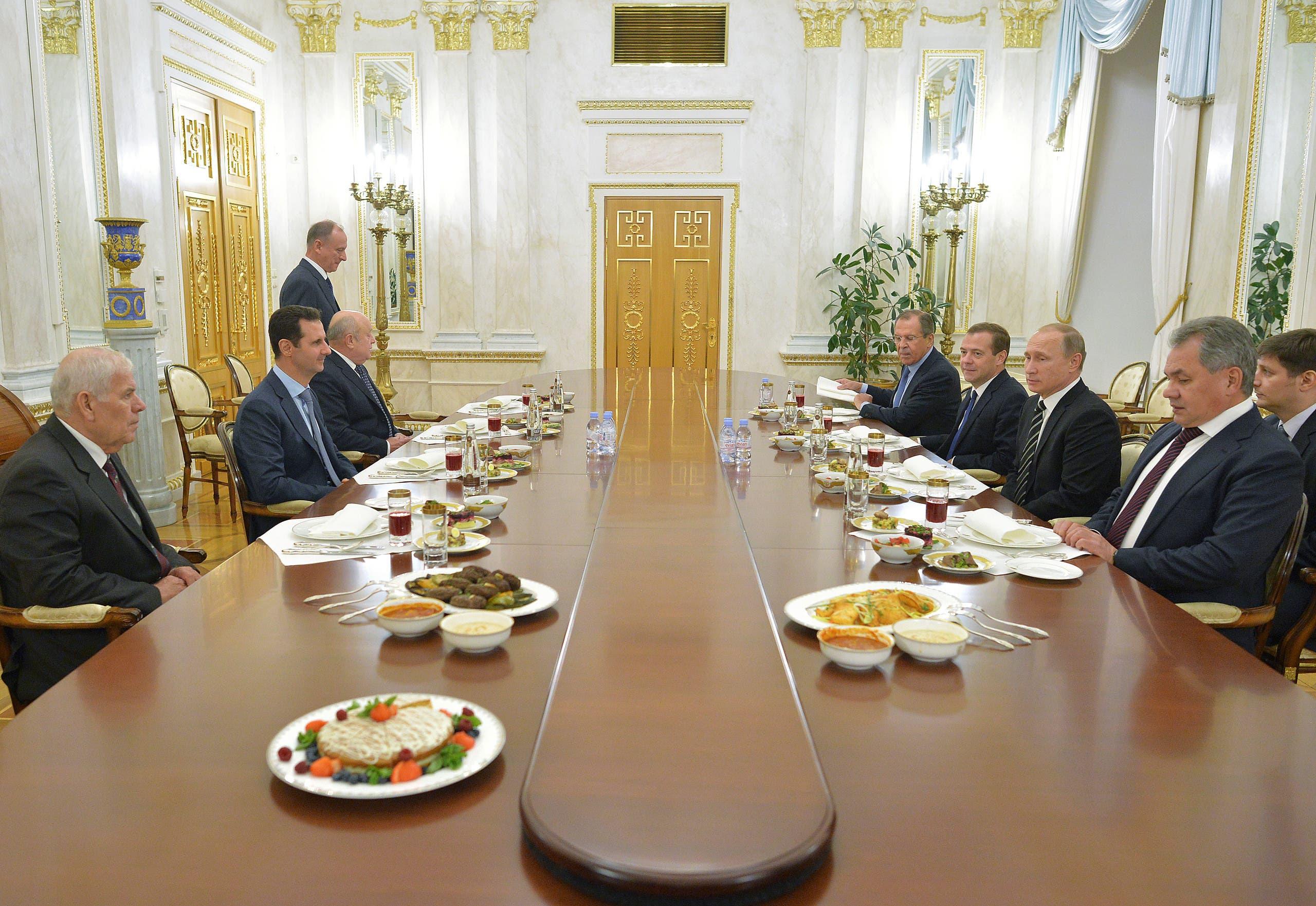 جلسة مباحثات بين الأسد وبوتين