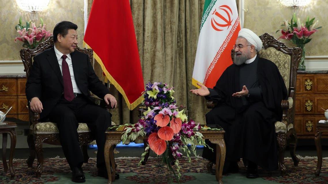 روحاني  و الرئيس الصيني الصين