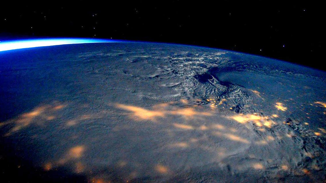 A winter storm affecting the U.S. East Coast is seen in a NASA picture taken from the International Space Station January 23, 2016. (Reuters)