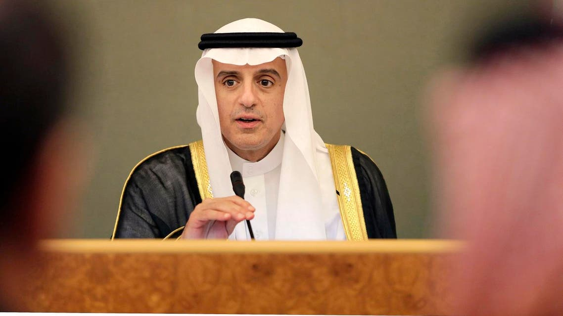 Adel al-Jubeir denied suspected Pakistani mediation between Riyadh and Tehran and stressed none will happen to 'Iran responds positively'. (AP)