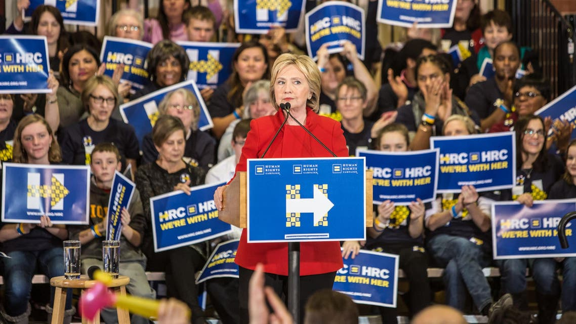Democratic presidential candidate Hillary Clinton speaks at a campaign event at Valley Southwoods Freshman High School on January 24, 2016 in West Des Moines, Iowa.