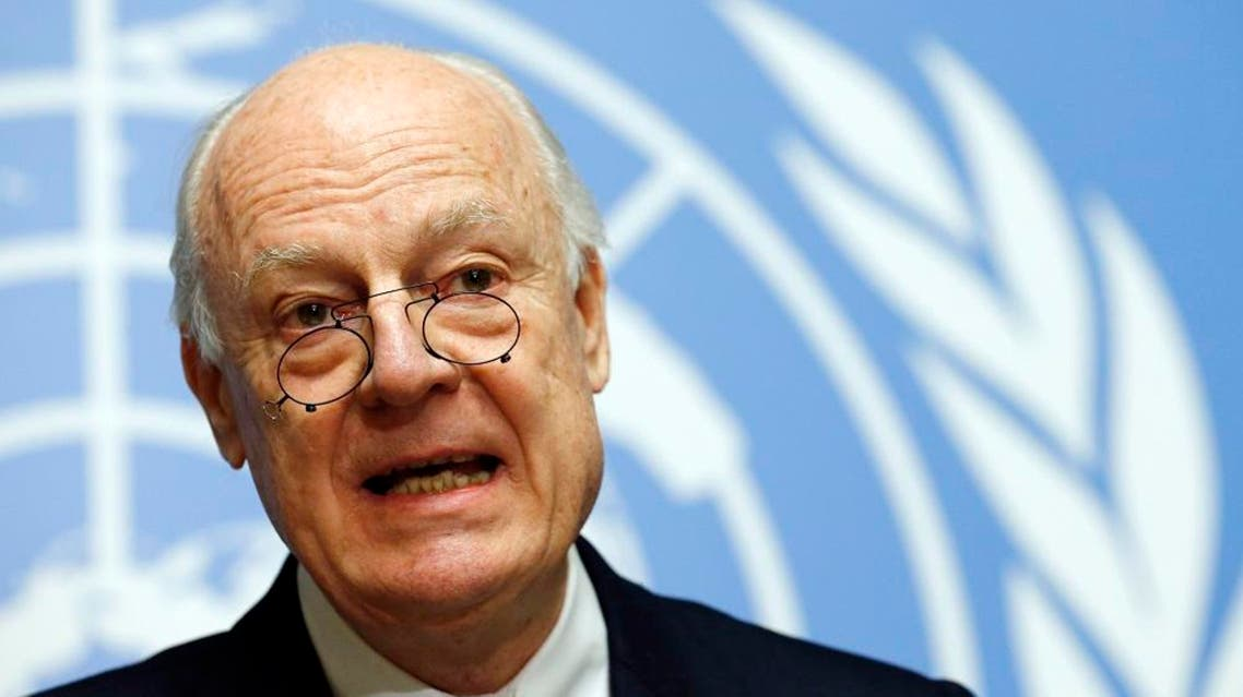 U.N. mediator for Syria Staffan de Mistura attends a news conference at the United Nations in Geneva, Switzerland January 25, 2016 (Reuters)