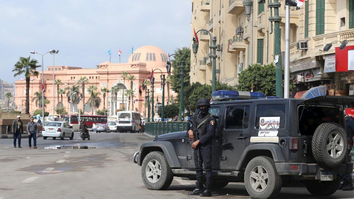 قوات أمن في ميدان التحرير وسط القاهرة