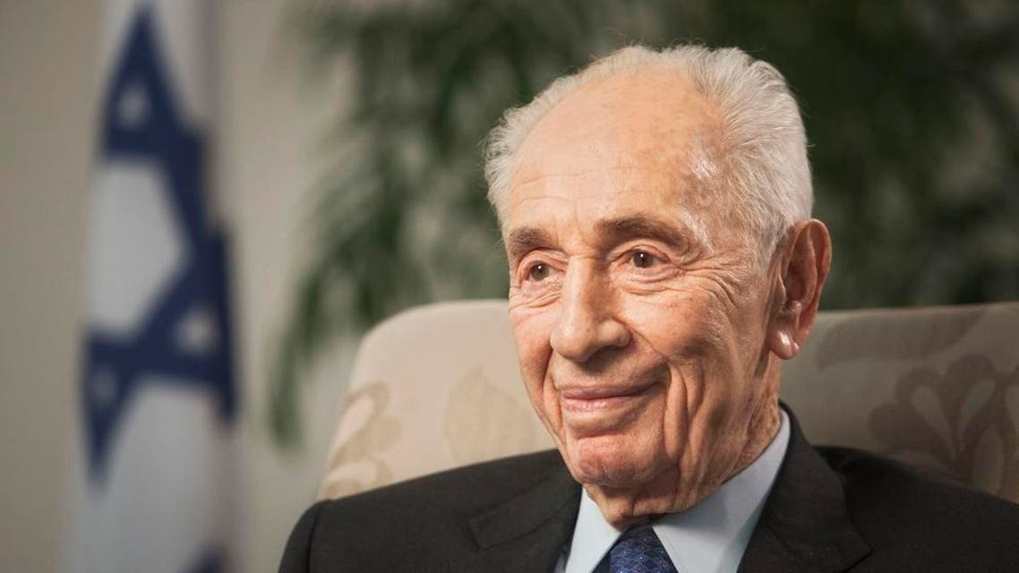In this Nov. 2, 2015 file photo, former Israeli President Shimon Peres speaks during an interview with The Associated Press in Jerusalem. A spokeswoman for Israel's former President Shimon Peres says the 92-year-old is being rushed to hospital after experiencing chest pains it was reported on Sunday, Jan. 24, 2016. (AP Photo/Dan Balilty, File)