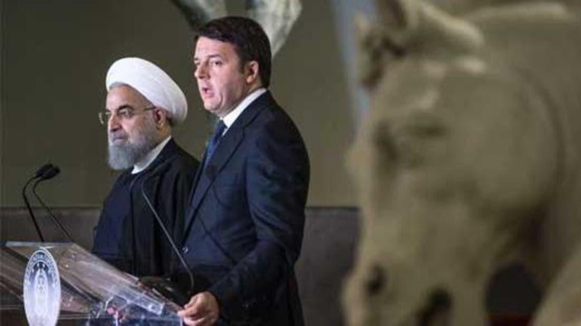 روحاني ورئيس الوزراء الإيطالي ماتيو رينزي